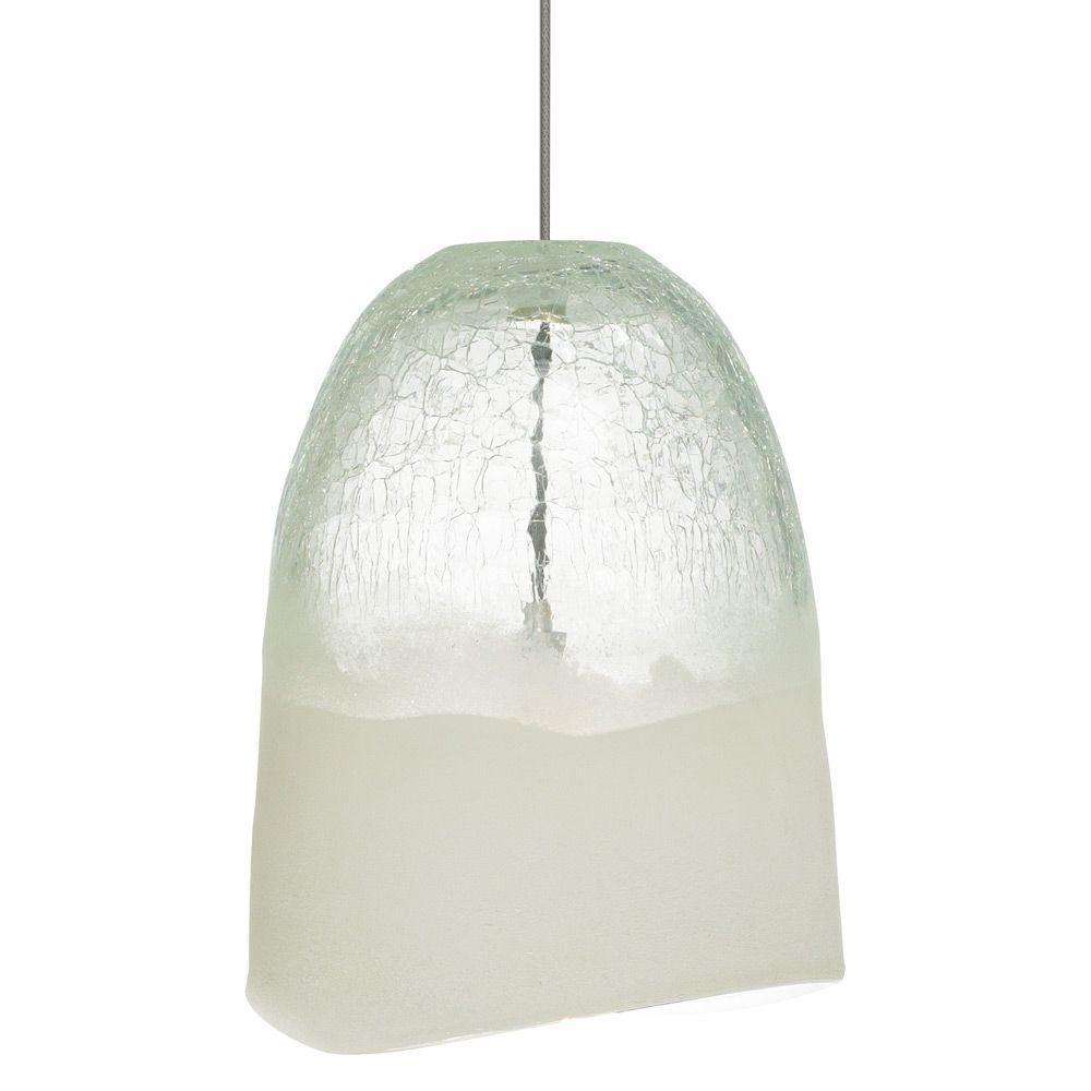 Chill 1-Light Bronze Xenon Mini Pendant with Clear Shade