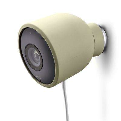 Colorful Silicone Skins for Nest Cam Outdoor Security Camera in Beige