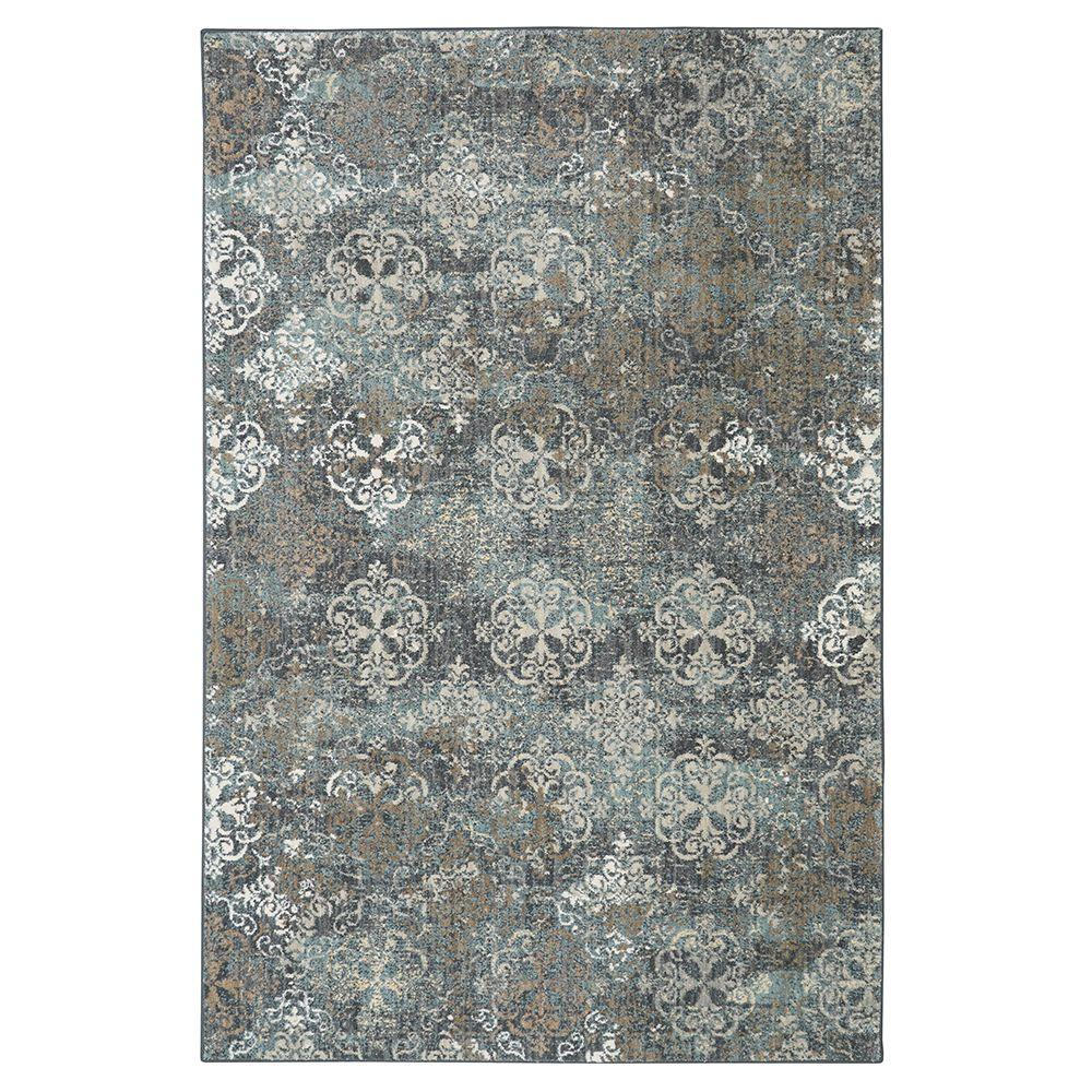 Arietta Abyss Blue 8 ft. x 11 ft. Area Rug