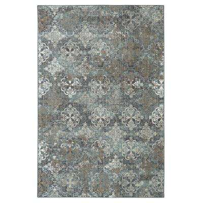 Arietta Abyss Blue 8 ft. x 11 ft. Indoor Area Rug