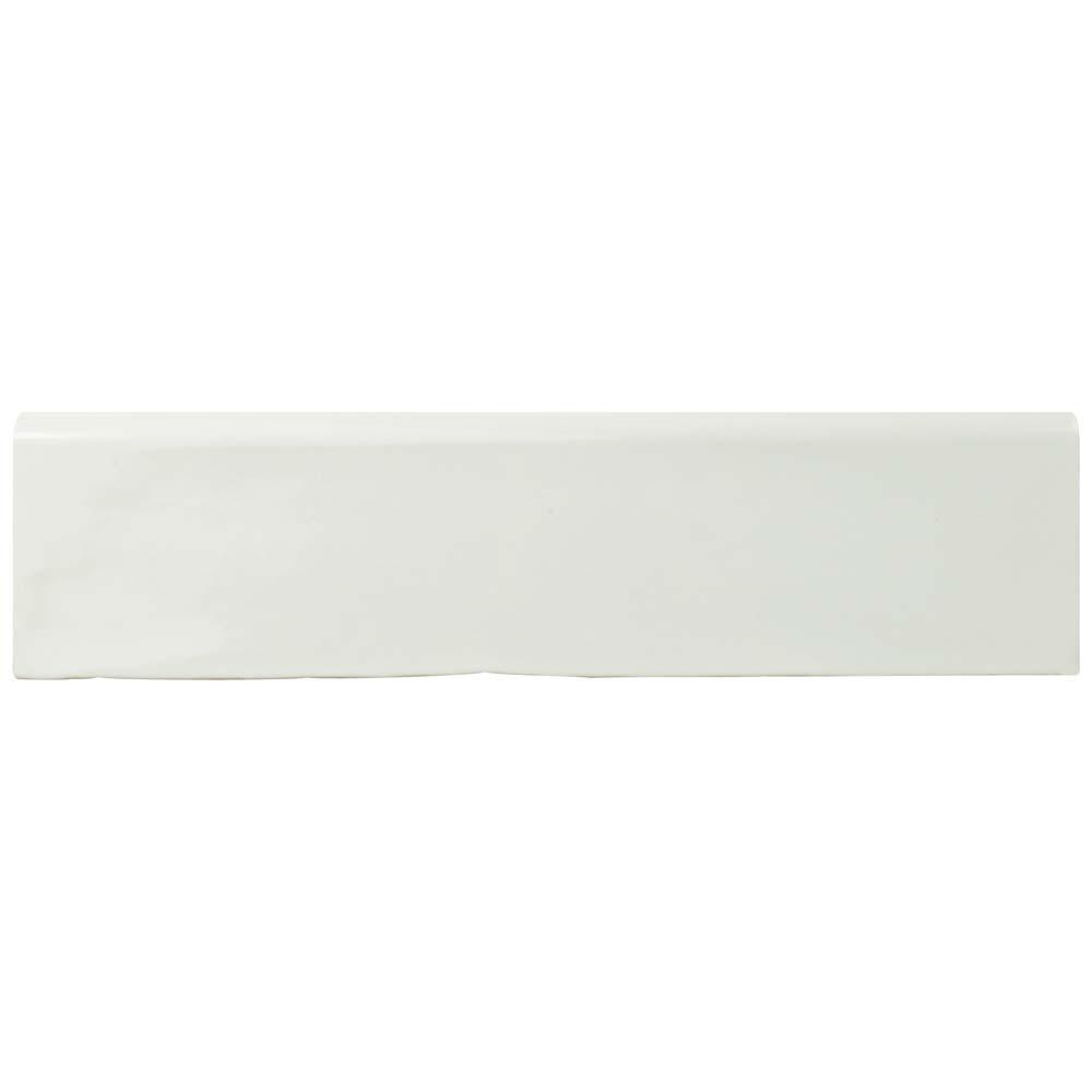 Chester Bianco Zocalo 3 in. x 12 in. Ceramic Wall Trim