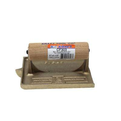 6 in. x 4-1/2 in. 1/4 in. R 1/2 in. D Large Bit Bronze Groover - Wood Handle