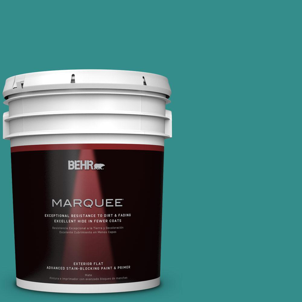 Home Decorators Collection 5-gal. #HDC-FL13-12 Taos Turquoise Flat Exterior Paint