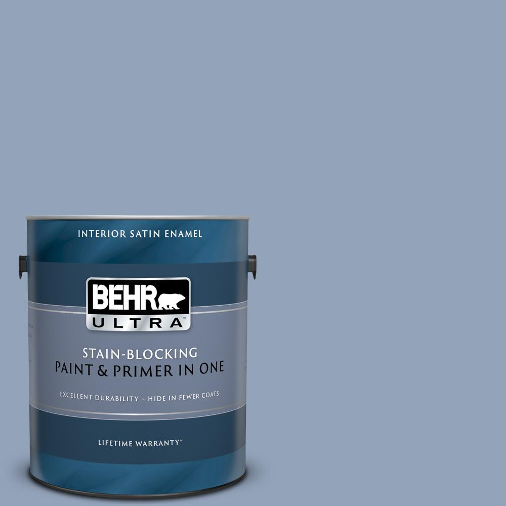 Behr Ultra 1 Gal 580f 4 River Valley Satin Enamel Interior Paint And Primer In One 775401 The Home Depot