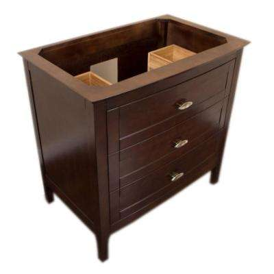 Kingsburg 35 in. W x 22.3 in. D x 34.5 in. H Single Bath Vanity Cabinet Only in Sable Walnut without Vanity Top