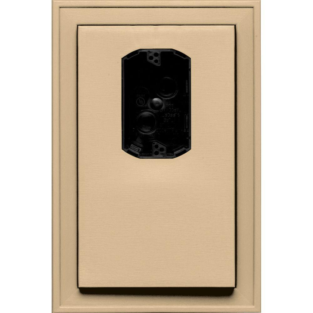 8.125 in. x 12 in. #045 Sandstone Maple Jumbo Electrical Mounting