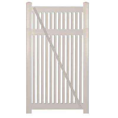 Williamsport 4 ft. W x 5 ft. H Tan Vinyl Pool Fence Gate