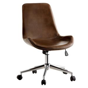 Furniture of America Manale Brown Modern Leather Office ...