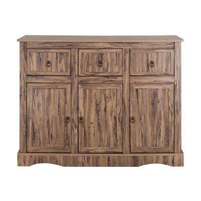 Wren Maple Veneer Simplicity Storage Cabinet with 3-Doors 3-Drawers