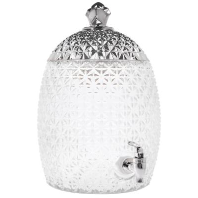 1.75 Gal. Silver Topped Pineapple Shaped Drink Dispensers
