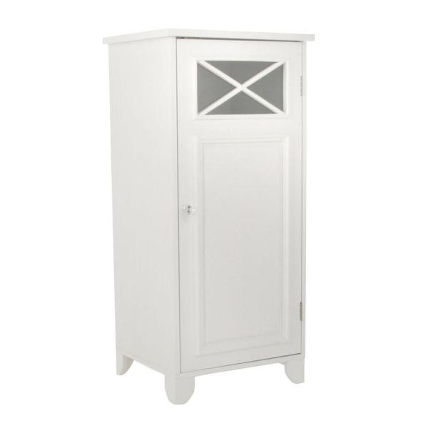 Johnston 15 in. W x 32 in. H x 13 in. D Bathroom Linen Storage Floor Cabinet in White