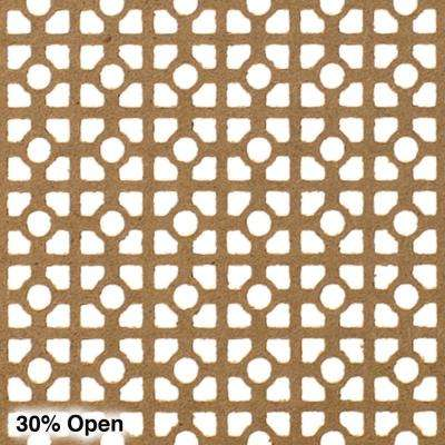 72 in. x 24 in. x 1/8 in. Unfinished Square and Mini Circle Decorative Perforated Paintable MDF Screening Panel Insert