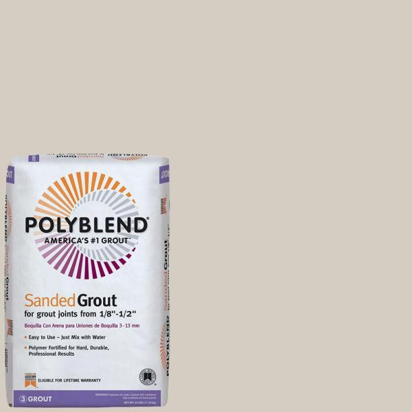 Polyblend #545 Bleached Wood 25 lb. Sanded Grout