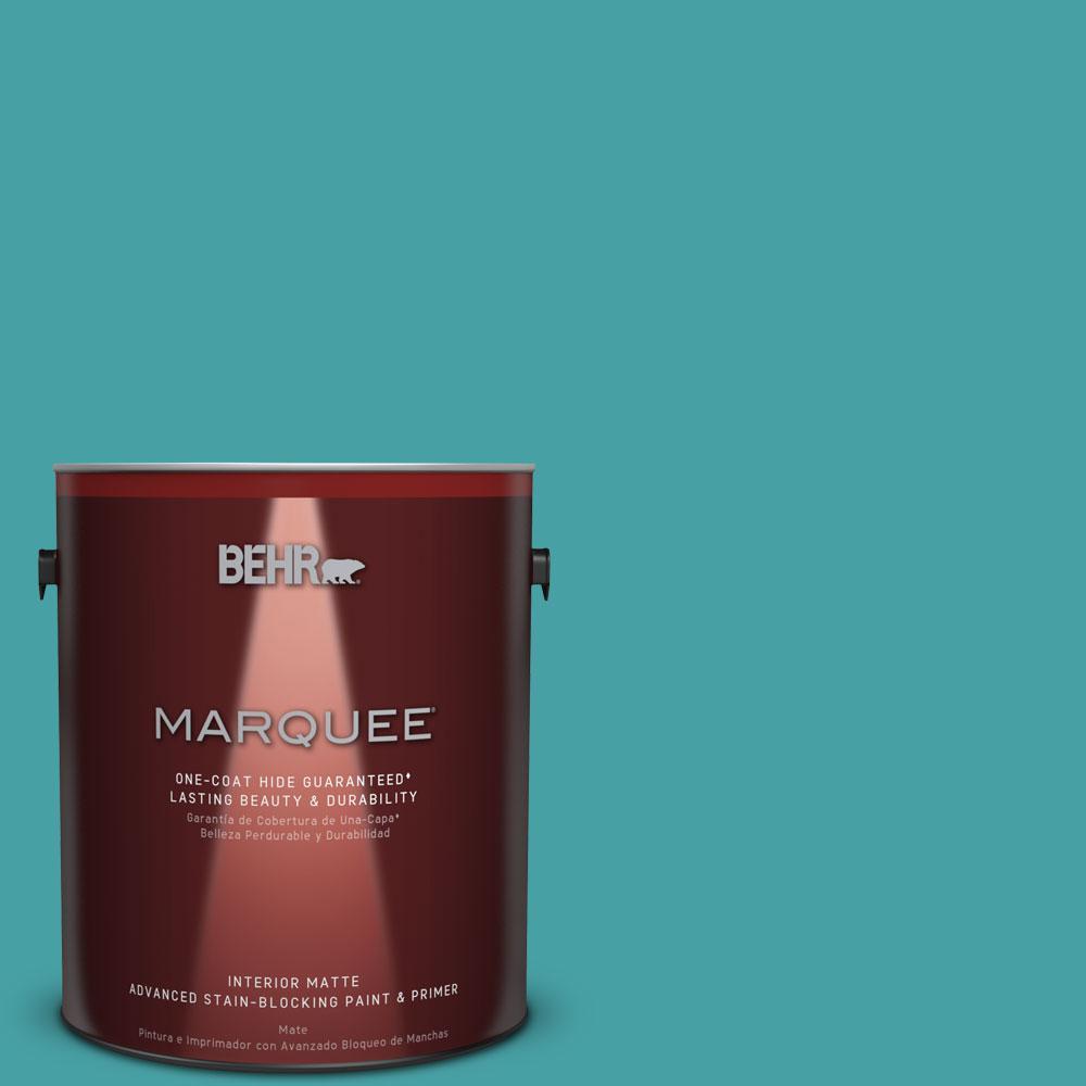 1 gal. #M460-5 Aqua Fresco One-Coat Hide Matte Interior Paint