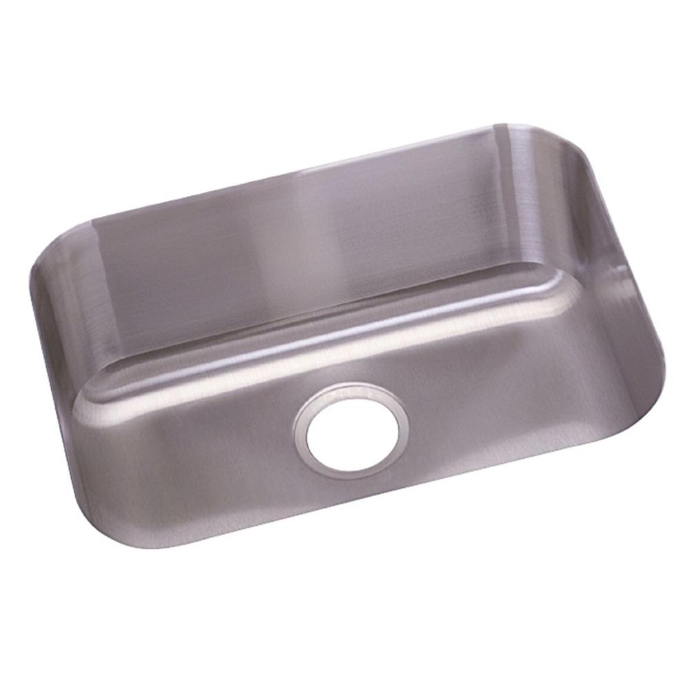 Elkay Dayton Undermount Stainless Steel 23.5 In. Single Bowl Kitchen Sink DXUH2115    The Home Depot