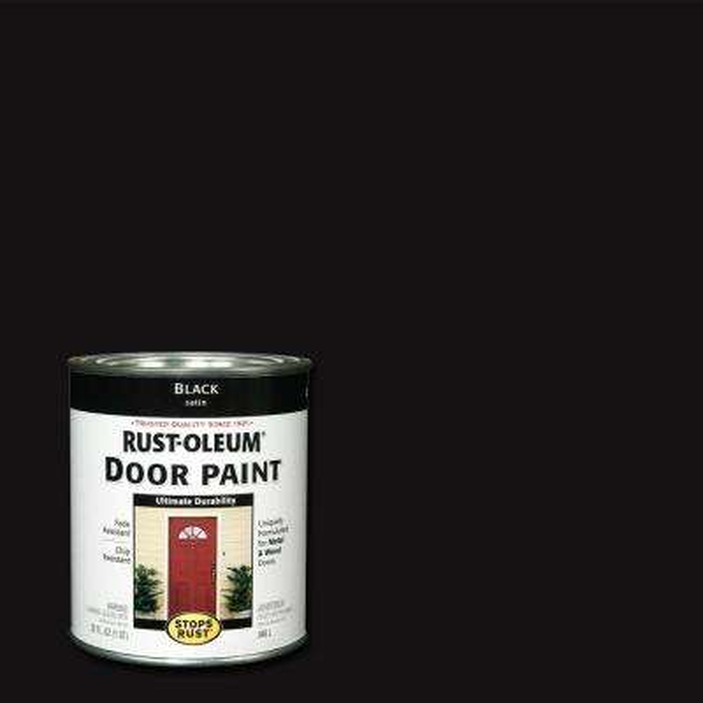 1 qt. Black Door Paint (2-Pack)