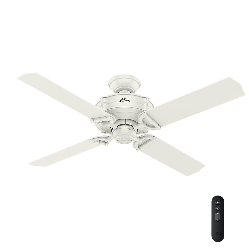 Hunter Brunswick 52 In Indooroutdoor Fresh White Ceiling Fan With