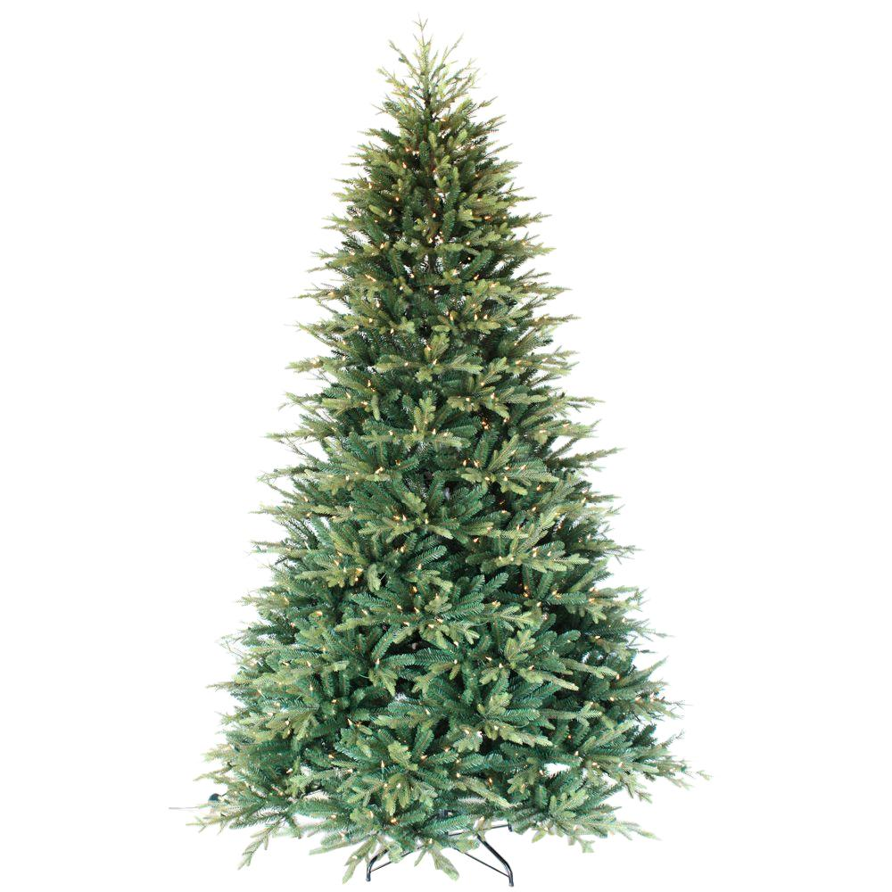 9 ft. Pre-Lit Balsam Artificial Christmas Tree with 900 Always-Lit ...
