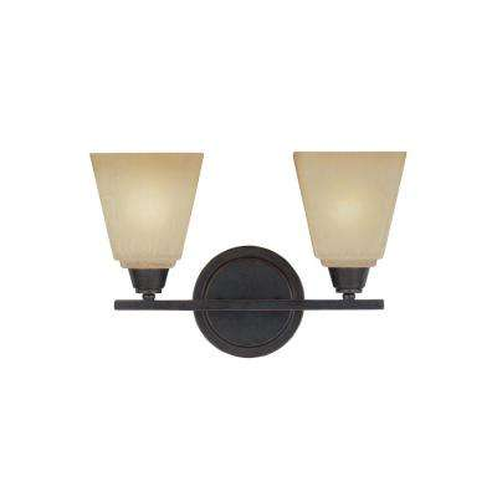 Parkfield 2-Light Flemish Bronze Bath Light with LED Bulbs