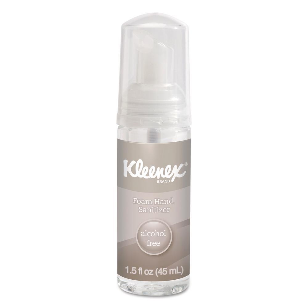 Kleenex 1.5 oz Alcohol-Free Foam Hand Sanitizer, 24 Per C...