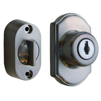 Keyed Deadbolt in Satin Silver Finish