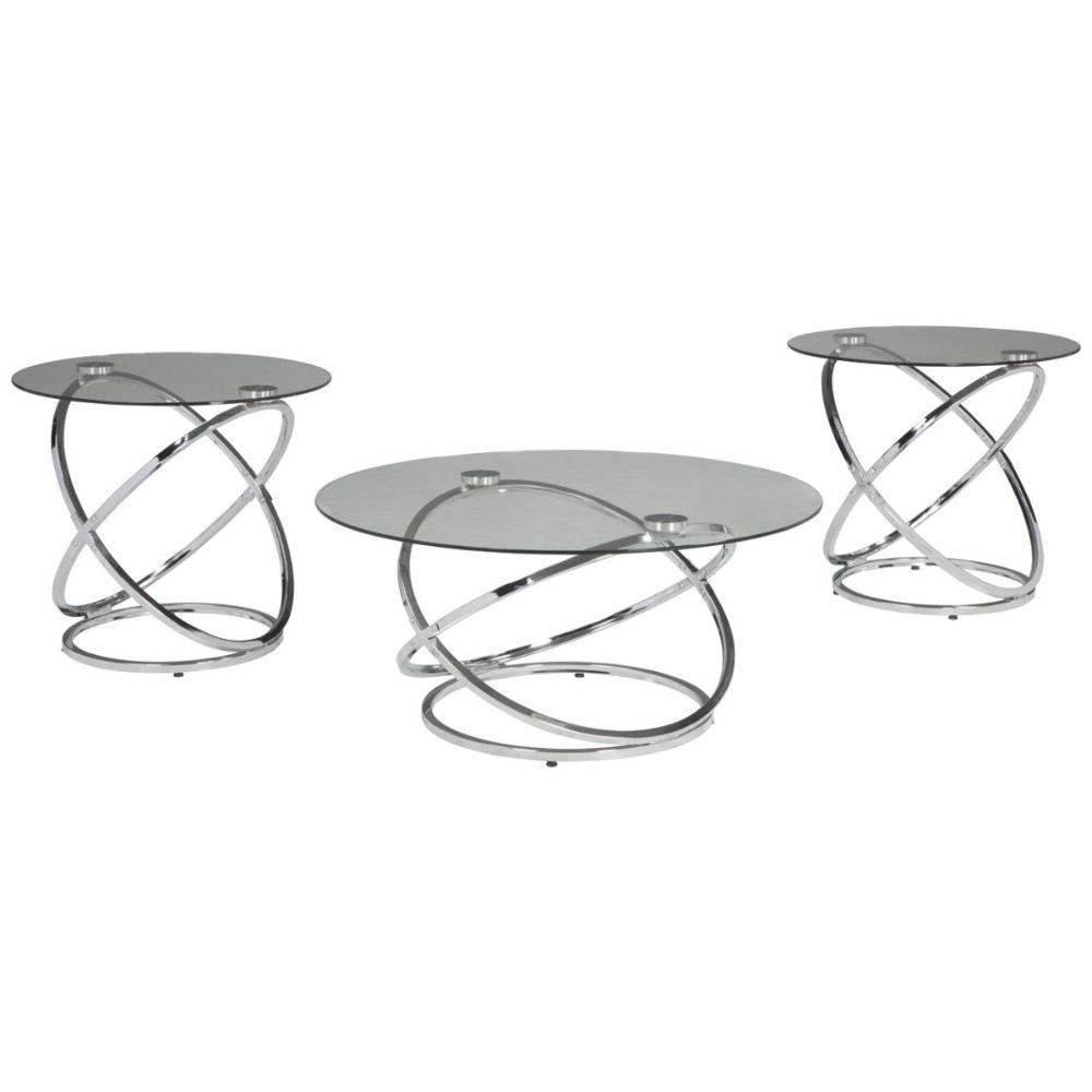 medium rectangle glass coffee table set