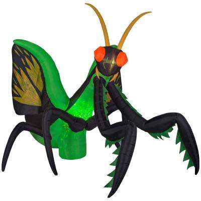 10.5 ft. Inflatable Projection Kaleidoscope Preying Mantis