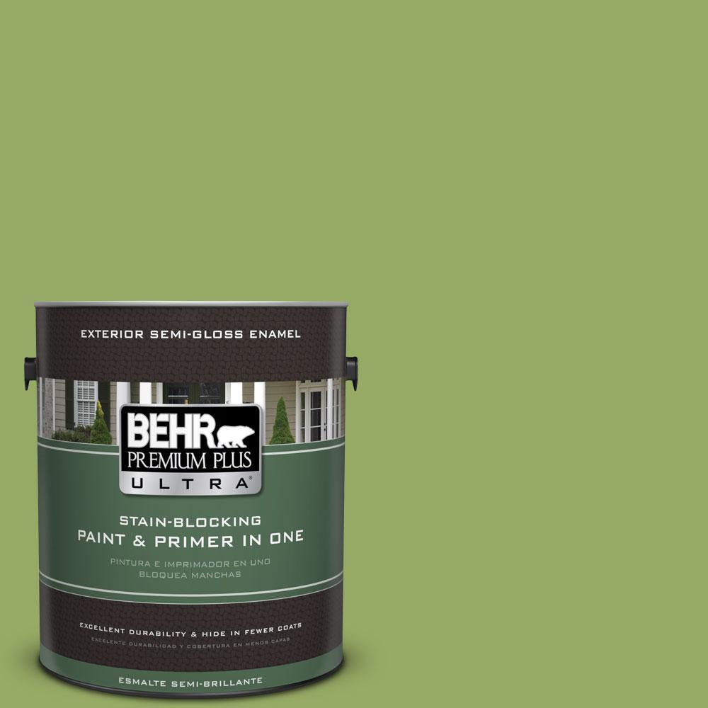 1-gal. #420D-5 Herbal Garden Semi-Gloss Enamel Exterior Paint