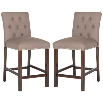 Norah 27.5 in. Counter Stool in Dark Taupe (Set of 2)
