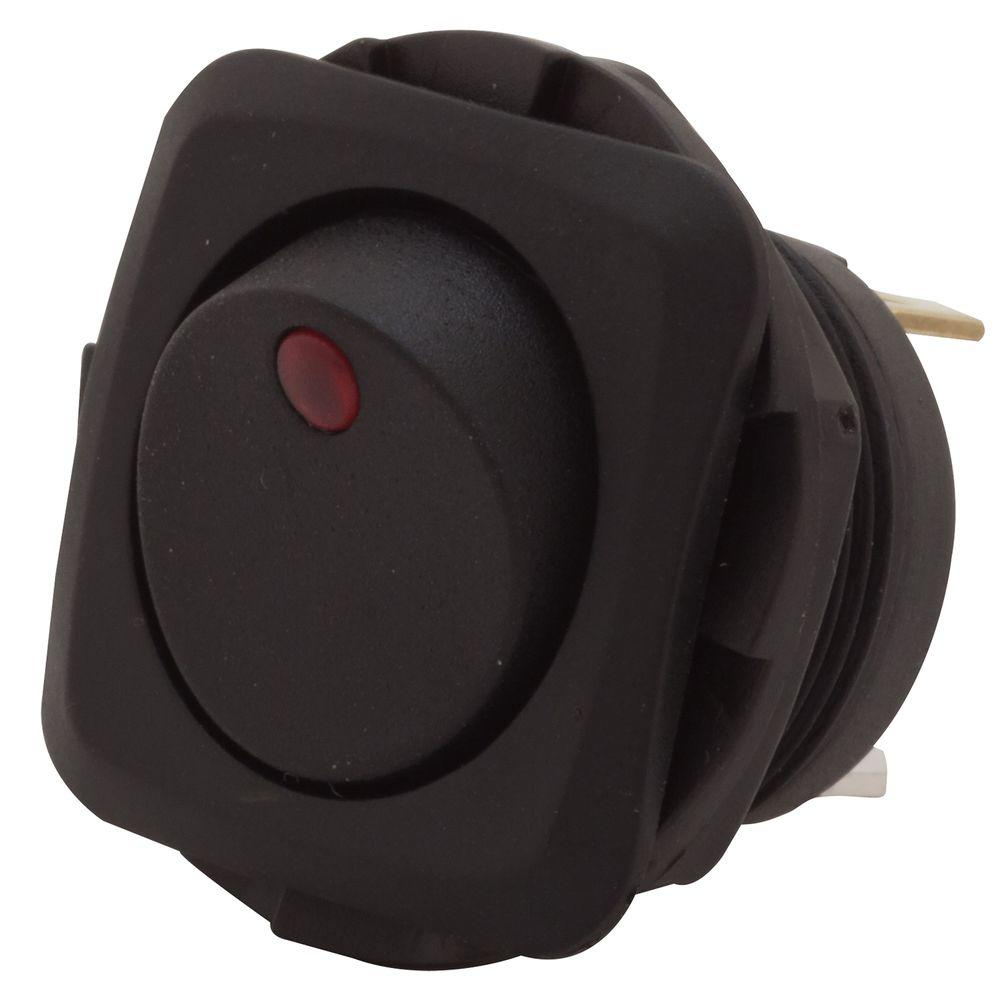 16 Amp LED Illuminated Round Hole Rocker Switch
