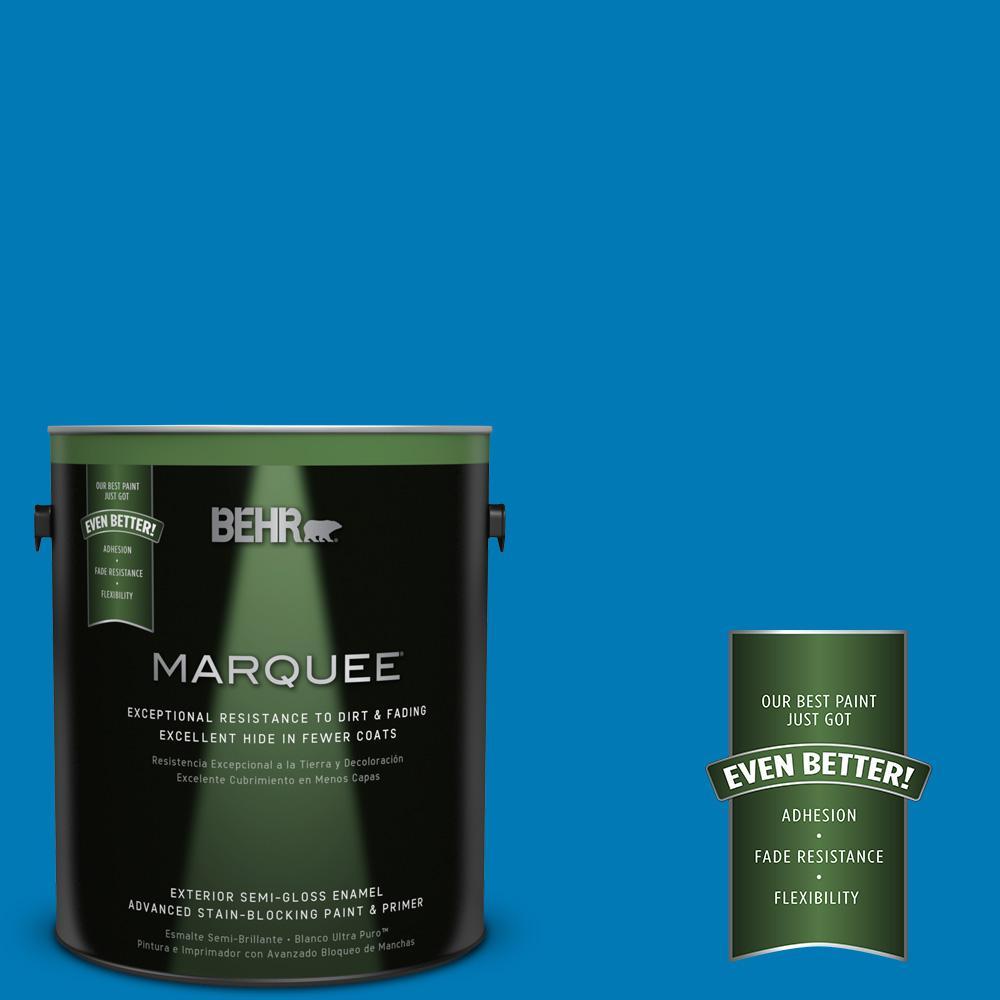 BEHR MARQUEE 1-gal. #P500-6 Deep River Semi-Gloss Enamel Exterior Paint
