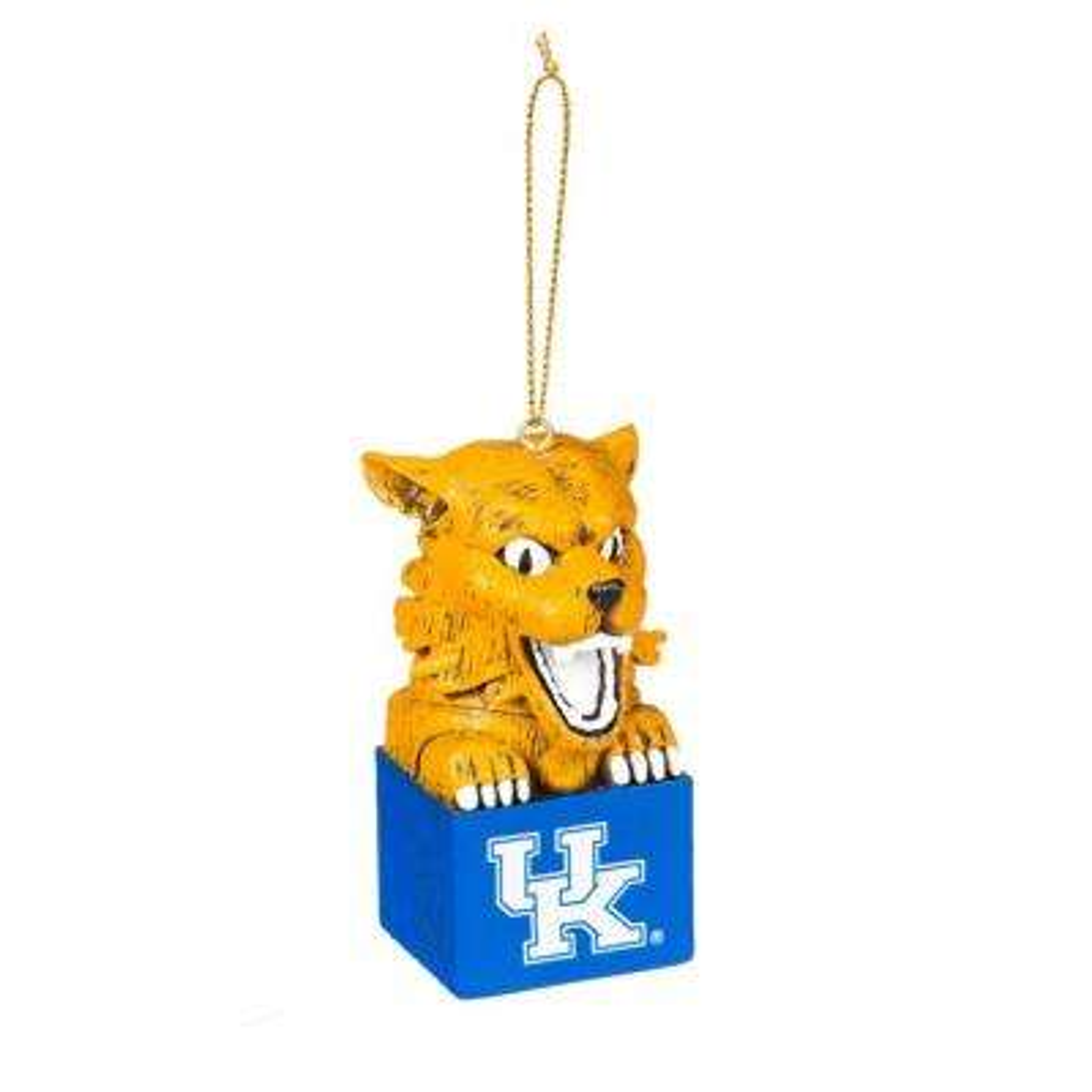 University of Kentucky 1-1/2 in. NCAA Mascot Tiki Totem Christmas Ornament