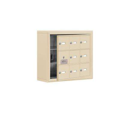 19100 Series 24 in. W x 20 in. H x 6.25 in. D 8 Doors Cell Phone Locker S-Mount Keyed Locks in Sandstone