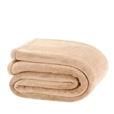 Plush Linen Polyester King Blanket
