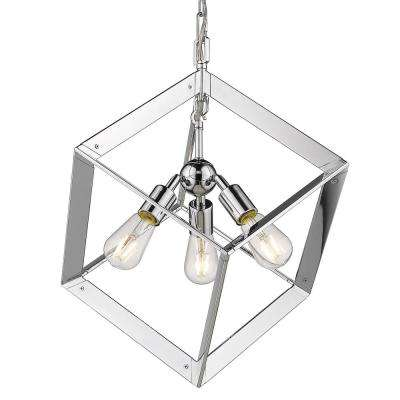 Architect 3-Light Chrome Chandelier