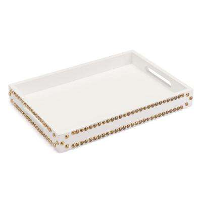 White Tray with Studs