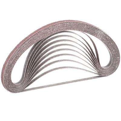 3/8 in. x 21 in. 40-Grit Abrasive Belt (10-Pack) for use with 3/8 in. x 21 in. Belt Sander