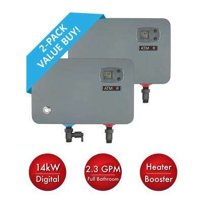 14 kW/240-Volt 2.3 GPM Electric Tankless Water Heater, On Demand Water Heater with Self-Modulating Technology (2-Pack)