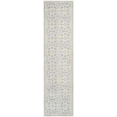 Cambridge Silver/Ivory 3 ft. x 16 ft. Runner Rug