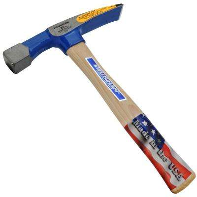 24 oz. Carbon Steel Bricklayer's Hammer with 11.5 in. Hickory Handle