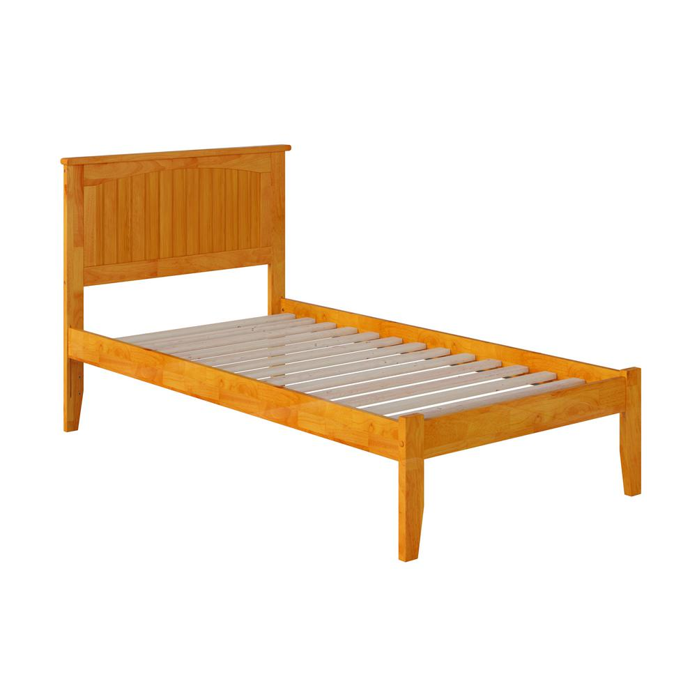 Nantucket Caramel Twin XL Platform Bed with Open Foot Board