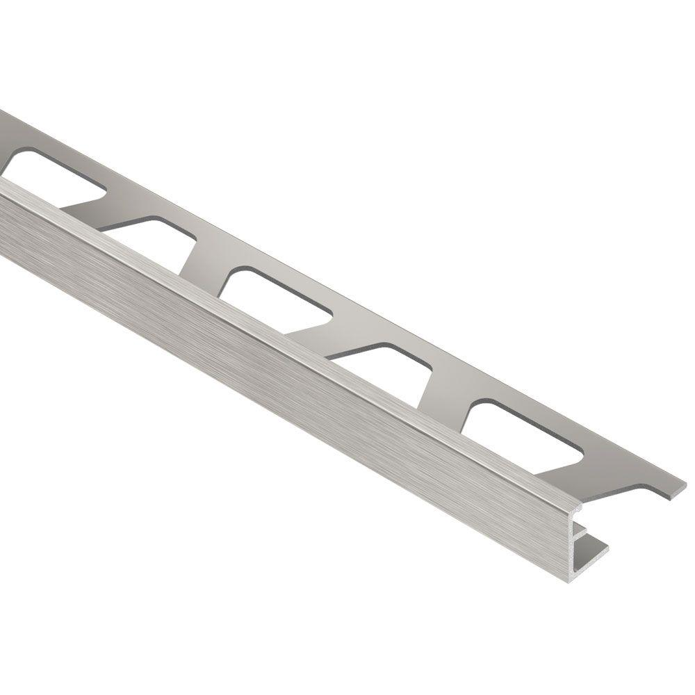 Schluter Jolly Brushed Nickel Anodized Aluminum 1 2 In X