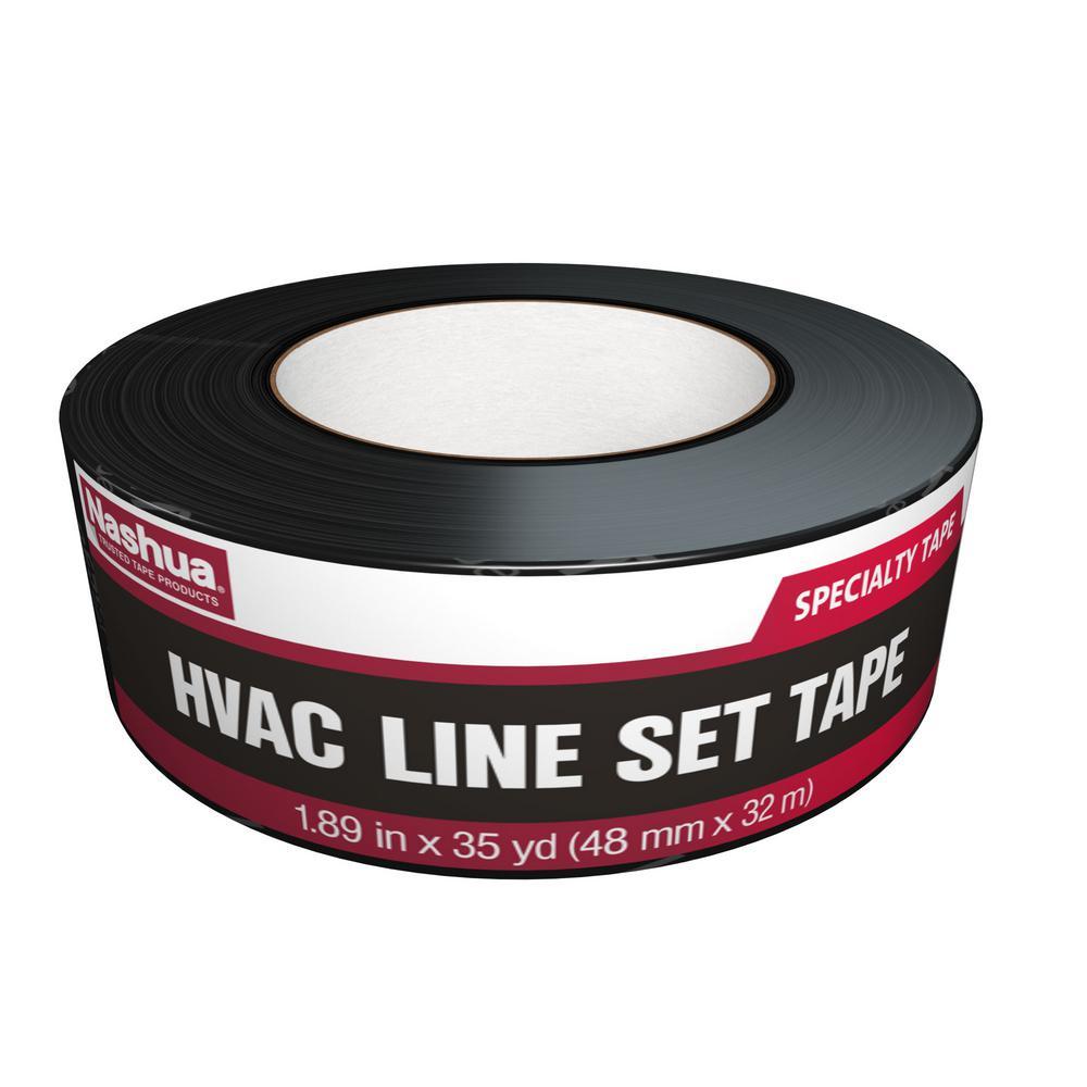 1.89 in. x 35 yd. HVAC Line Set Tape in Black