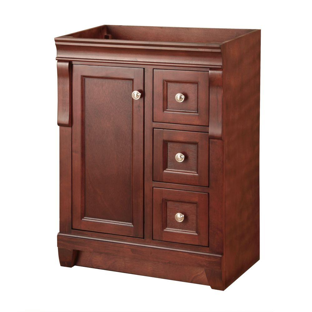 Terrific Home Decorators Collection Naples 24 In W Bath Vanity Cabinet Only In Warm Cinnamon With Right Hand Drawers Download Free Architecture Designs Scobabritishbridgeorg
