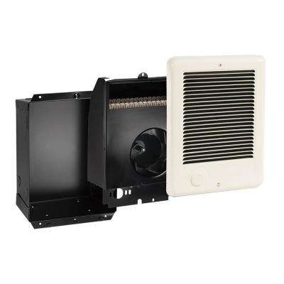 Com-Pak 1500-Watt 240-Volt 5118-BTU In-Wall Fan Forces Electric Heater in Almond