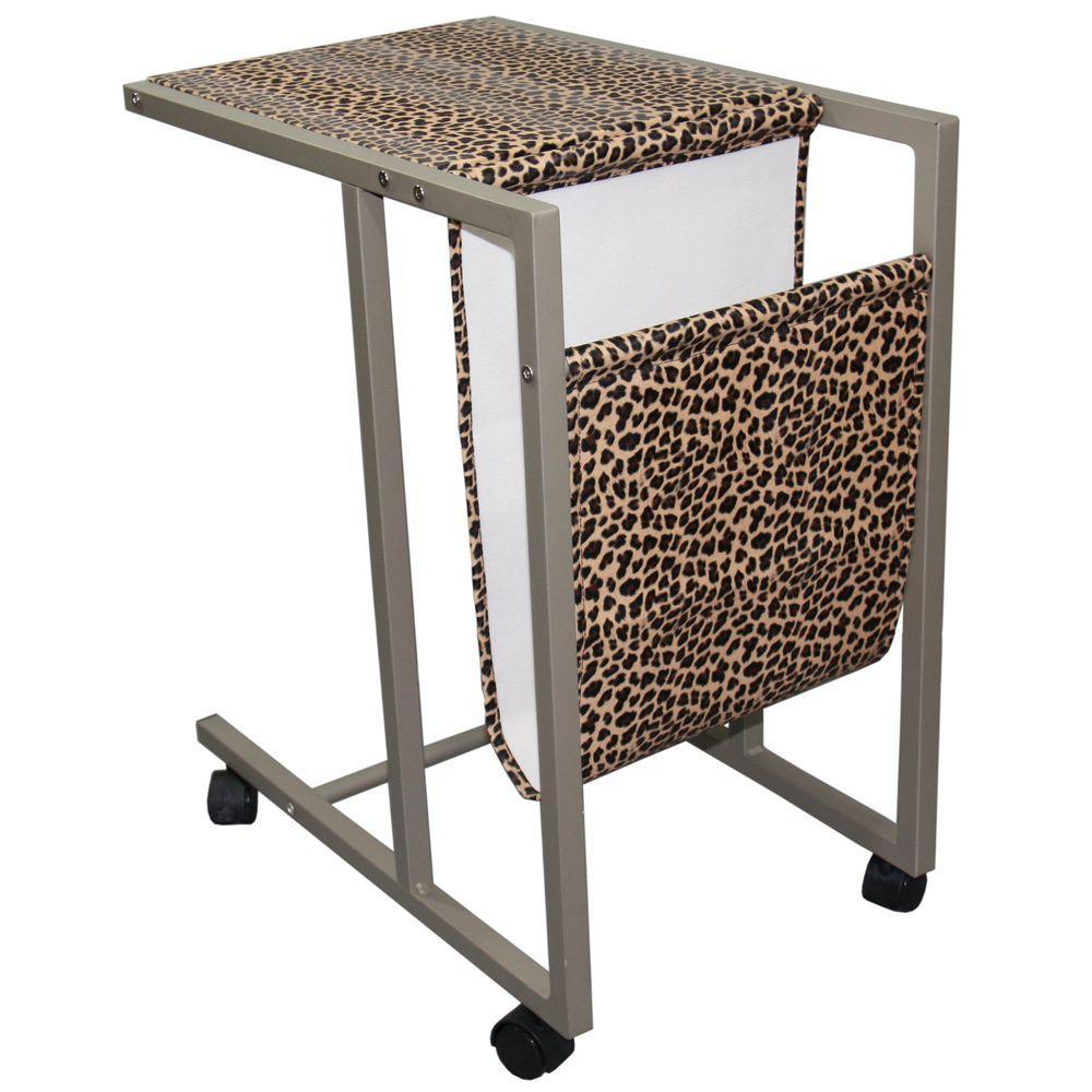 Leopard Print Desk with Storage
