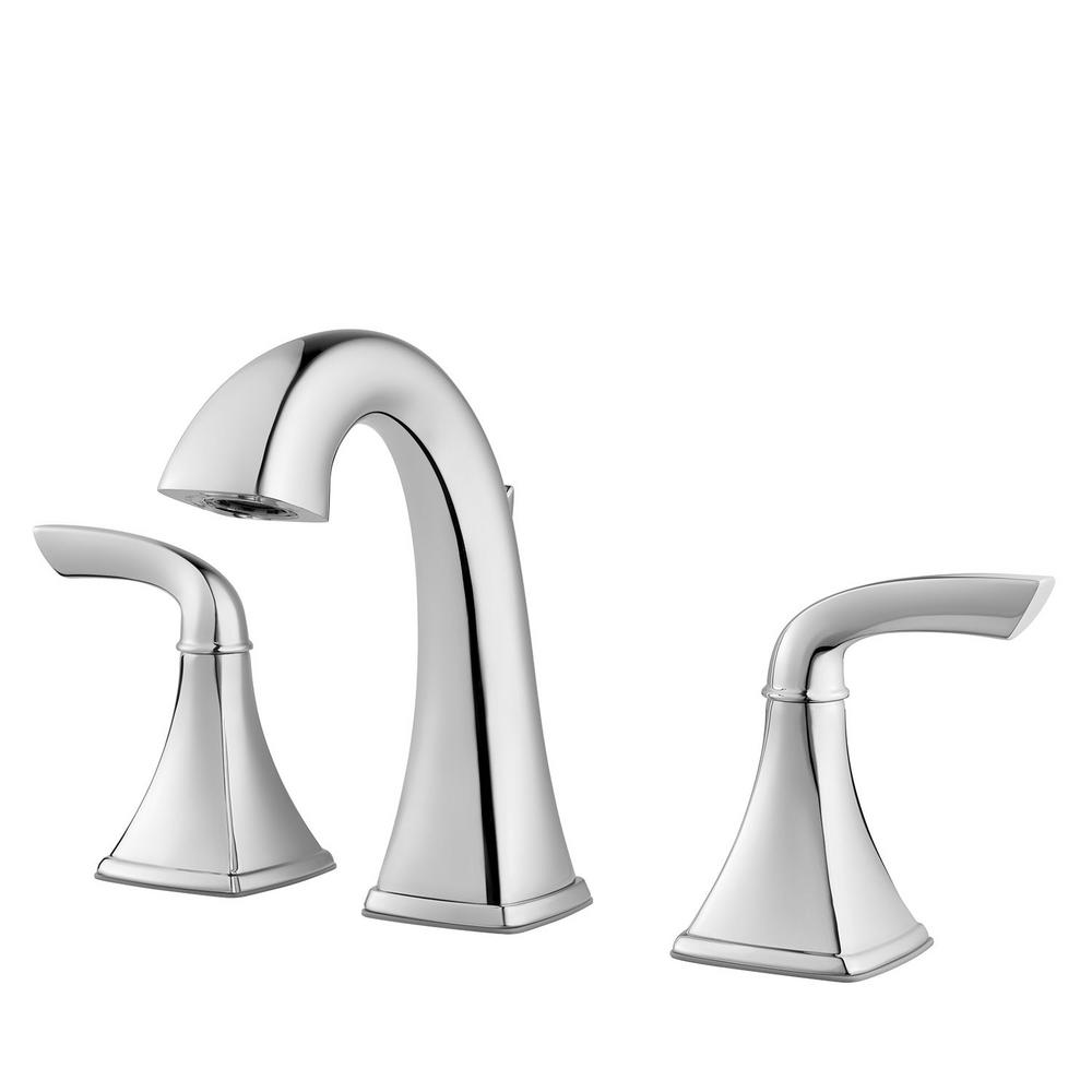 Yosemite Home Decor 8 In. Widespread 2-Handle Bathroom Faucet In Polished Chrome With Pop-Up