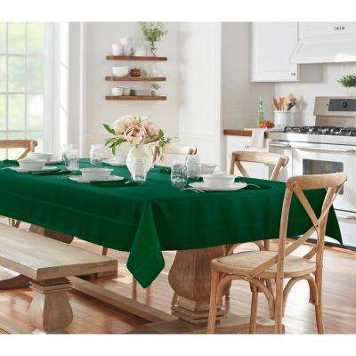 60 in. W x 144 in. L Holly Green Elrene Elegance Plaid Damask Fabric Tablecloth