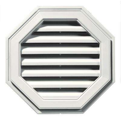 22 in. Octagon Gable Vent in White