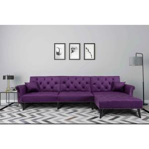Astonishing Harper Bright Designs Purple 2 Piece Modern Vintage Futon Gmtry Best Dining Table And Chair Ideas Images Gmtryco